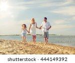 summer holidays  children and... | Shutterstock . vector #444149392