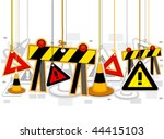 construction signs on strings   ...   Shutterstock .eps vector #44415103