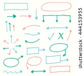 arrow marker set | Shutterstock .eps vector #444153955