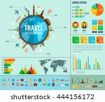 travel and tourism. infographic ... | Shutterstock .eps vector #444156172