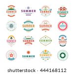 summer holidays design elements ... | Shutterstock .eps vector #444168112