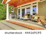 countryside house exterior.... | Shutterstock . vector #444169195