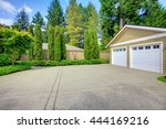 double doors garage with wide ... | Shutterstock . vector #444169216