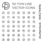 50 vector thin line icons for...
