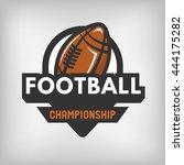 american football sports logo... | Shutterstock . vector #444175282
