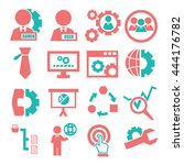 system  user  administrator... | Shutterstock .eps vector #444176782