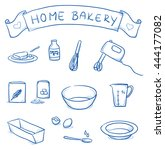 set of different icons for home ... | Shutterstock .eps vector #444177082