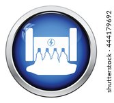hydro power station icon.... | Shutterstock .eps vector #444179692