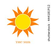 vector orange sun symbol... | Shutterstock .eps vector #444181912