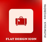 baggage icon flat vector | Shutterstock .eps vector #444186046