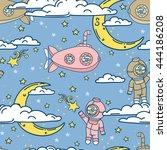 fantasy seamless background for ... | Shutterstock .eps vector #444186208
