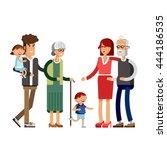 flat illustration multi... | Shutterstock .eps vector #444186535