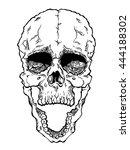 terrible frightening skull....   Shutterstock .eps vector #444188302