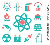 world energy icon set | Shutterstock .eps vector #444194242