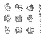 set line icons of water pump | Shutterstock .eps vector #444206005