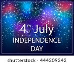 usa independence day background ... | Shutterstock .eps vector #444209242