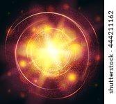 light burst yellow explosion...   Shutterstock .eps vector #444211162