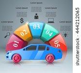 abstract 3d digital... | Shutterstock .eps vector #444212065