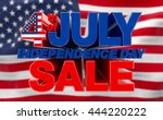 4th july independence day sale... | Shutterstock . vector #444220222