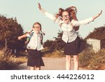 smiling young  children in a ... | Shutterstock . vector #444226012