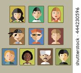 various portraits | Shutterstock .eps vector #444230596