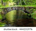 small rock bridge over forest... | Shutterstock . vector #444231976