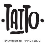 hand draw sketch tattoo... | Shutterstock .eps vector #444241072
