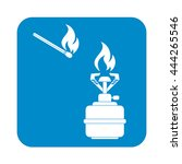 camping stove icon vector.... | Shutterstock .eps vector #444265546