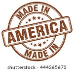 Постер, плакат: made in America brown