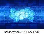 digital abstract technology... | Shutterstock . vector #444271732