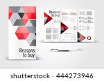 color application booklet... | Shutterstock .eps vector #444273946