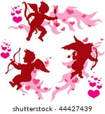 vector magic valentine cupids... | Shutterstock .eps vector #44427439
