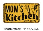 mom's kitchen on vintage rusty... | Shutterstock .eps vector #444277666