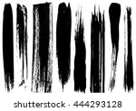 set of ink lines made by the... | Shutterstock .eps vector #444293128