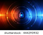 abstract security digital... | Shutterstock .eps vector #444293932