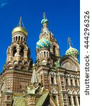 church of the savior on spilled ... | Shutterstock . vector #444296326
