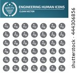 engineering icon set vector  | Shutterstock .eps vector #444306856