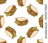 seamless pattern color sandwich.... | Shutterstock . vector #444317065