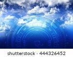 sci fi futuristic user interface | Shutterstock . vector #444326452