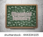 manufacuring concept  chalk...   Shutterstock . vector #444334105
