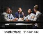 night meeting | Shutterstock . vector #444334432