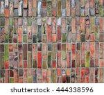 Close Up Colorful Red Brickwal...