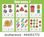 counting educational children... | Shutterstock .eps vector #444351772