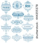 vintage banners. vector layered | Shutterstock .eps vector #444355378