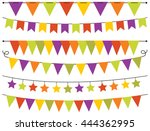 bunting flags halloween | Shutterstock .eps vector #444362995