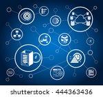 data analytics concept ... | Shutterstock .eps vector #444363436