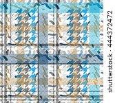 seamless checkered woolen coat... | Shutterstock .eps vector #444372472