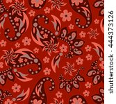 paisley seamless pattern.... | Shutterstock .eps vector #444373126