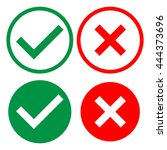 check mark icons. set in green...   Shutterstock .eps vector #444373696