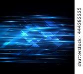high speed. hi tech. abstract... | Shutterstock .eps vector #444383335